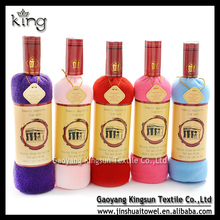 Brand new wine bottle cake towel with factory price