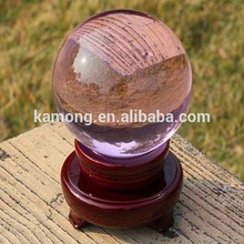 2015 Popular Diaphanous Crystal Material Glass Ball for Home Decoration