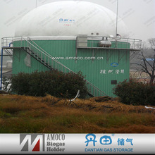 Large food waste treatment bio digester for biogas plant