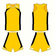 Yellow custom basketball jersey design