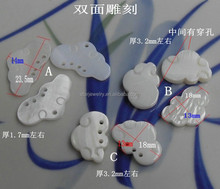 Double clouds carving xiangyun shells for earrings and necklace pendant shell diy jewelry accessories