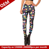 The new Europe and the United States wind fashion female trousers Lights leggings Star 3d leggings pants of shin guards and feet