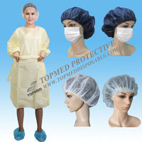 Hot! Nonwoven isolation gown / nurse cap and gown