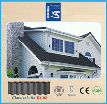 Easy installation Ceramic roofing tile stone coated metal roofing tile, heat insulation corrugated synthetic asphalt shingles