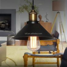 Vintage industrial umbrella matte balck/white pendant lamp with copper lamp holder for shop/home