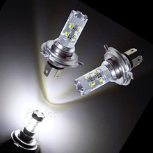 Auto Vehicles LED lights H4 50W Car Fog Head Light DRL HeadLight High Beam 12V DC