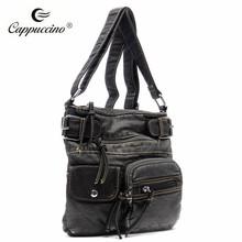2016 latest china manufacturer lady shoulder bag washed PU leather crossbody bag factory wholesale women fashion bag
