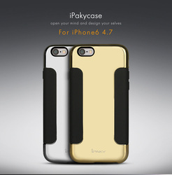 """Wholesale iPaky Luxury Magic Mirror Soft Mobile CellPhone Case for Apple iPhone 6 / 6 Plus + Gold Silver 4.7"""" 5.5"""