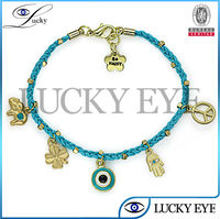 hand opal alloy charms evil eye bead bracelet