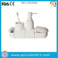 Wholesale unique removable white ceramic Submarino Bathroom Set