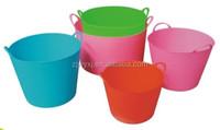 plastic garden tub,flexible PE tubtrug with two handles,FlexBag,REACH