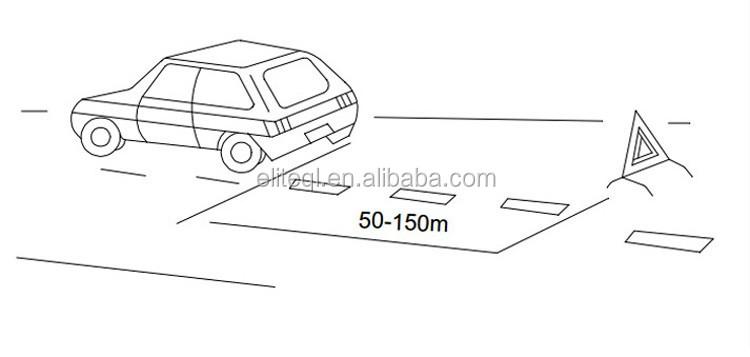 car emergency reflective warning triangle    led flashing