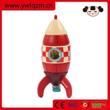 Wholesale new fashion design wooden toy rocket