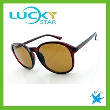 Anti-uv plastic naked sun glasses simple design cheap round sunglasses polarized wholesale on china market