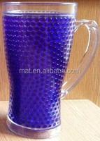 16oz double wall insulated Gel and beads and liquid water mason jar plastic and freezer mug Double wall freezer wine cup mug