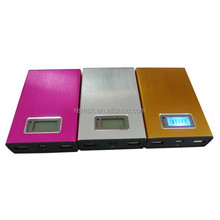 5v 2.1A/1A Lithium smart universal portable smart power bank 12000 for ipad