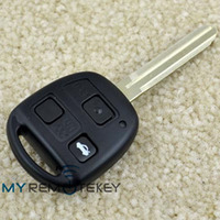 Remote key case TOY43 key blank 3button car cover for Toyota TOY43 remote head key