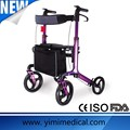 2014 nuevo diseño de aluminio Rollator para gente mayor discapacitada uso de rehabilitación para discapacitados