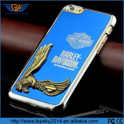 Grandwinged New Arrival Designer Silver Chrome Hard Back Case For iPhone 6,cheap mobile phone case