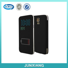 magnetic flip smart touch dormancy leather case for samsung S5