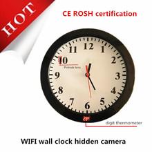 hidden camera mini camera invisible camera surveillance wifi wall clock 720p