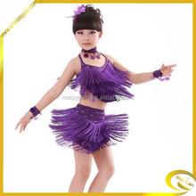 hot selling cheaper girls latin dance costumes
