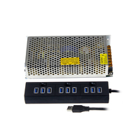 Stock ready 500pcs usb por hub, high speed 10 in 1 type C USB hub