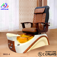 Spa pedicure chairs manufacturers/nail salon spa massage chair/spa joy pedicure chair KM-S812-4