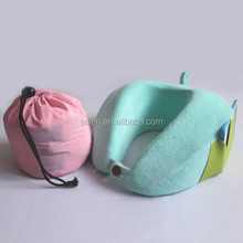Customized airplane fashion u shape memory foam pillow