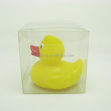 Hot selling weighted floating custom rubber duck with pvc box