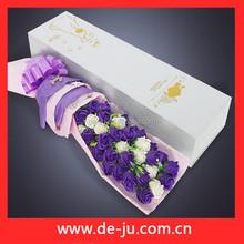 Caixas requintados grande buquê de flores de sabão presente de aniversário para o amante