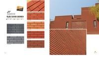 Outside decorative terracotta tiles, Natural Clay Terracotta Brick Tile, black floor tile
