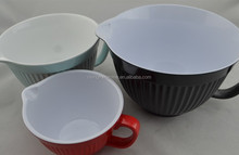 Kitch Melamine Mixing Bowl Jug with Spout & Handle set of 3