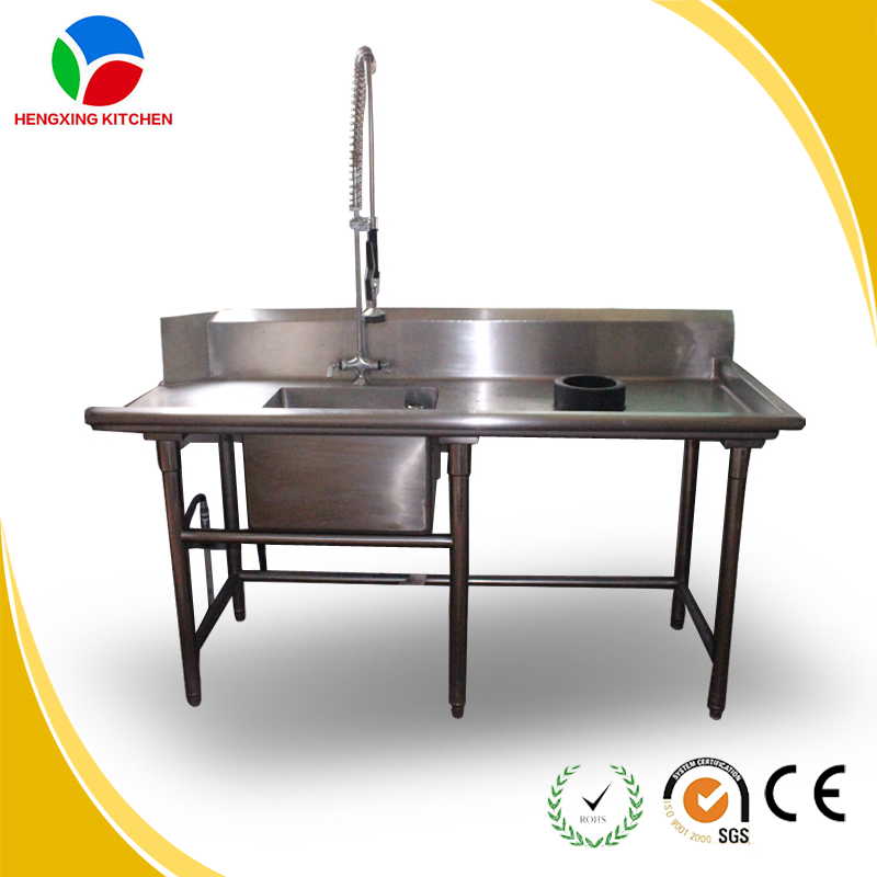 Bowl Sink Table/kitchen Stainless Steel Sink Work Table For Restaurant ...