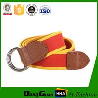 110cm durable wholesale boys canvas belt with D ring