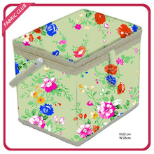 sewing storage box with plastic tray