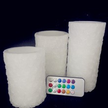 LED candle with 7.5 cm *7.5/10/12.5/15cm three size/set