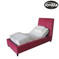 Eléctrica ajustable cama con colchón de látex/cama eléctrica okin motor eléctrico