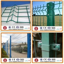 PVC powder spraying coated cheap yard fencing 3D fold wire mesh fence(2015 new products)