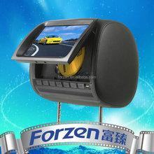 "9"" car headrest dvd built in USB/SD/MP4/wireless game /zipper cover /USB/FM/IR"