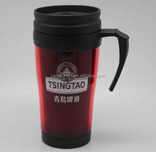 double wall plastic mug with handle