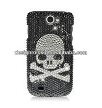 skull designs plastic cell phone case for Samsung Exhibit II 4G T679 full CS case