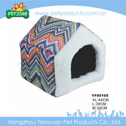 Warm cheap soft fabric large dog kennel