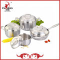 8 piezas de la tapa de acero inoxidable 304 chino menaje de cocina conjunto
