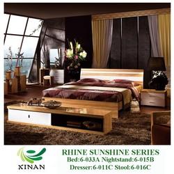 Glossy Chinese Veneer Bedroom Furniture