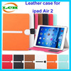 Kid shock proof cross stitch design leather case for ipad air 2 case