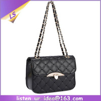 High quality newly arrival trendy black quilted shoulder bags