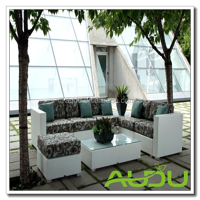 Audu плетеная мебель патио Casa Мадрид секционные белый