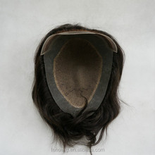 bleached knots full swiss lace toupee/men toupee with qingdao factory