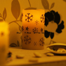 Snow resin charging electronic LED candle